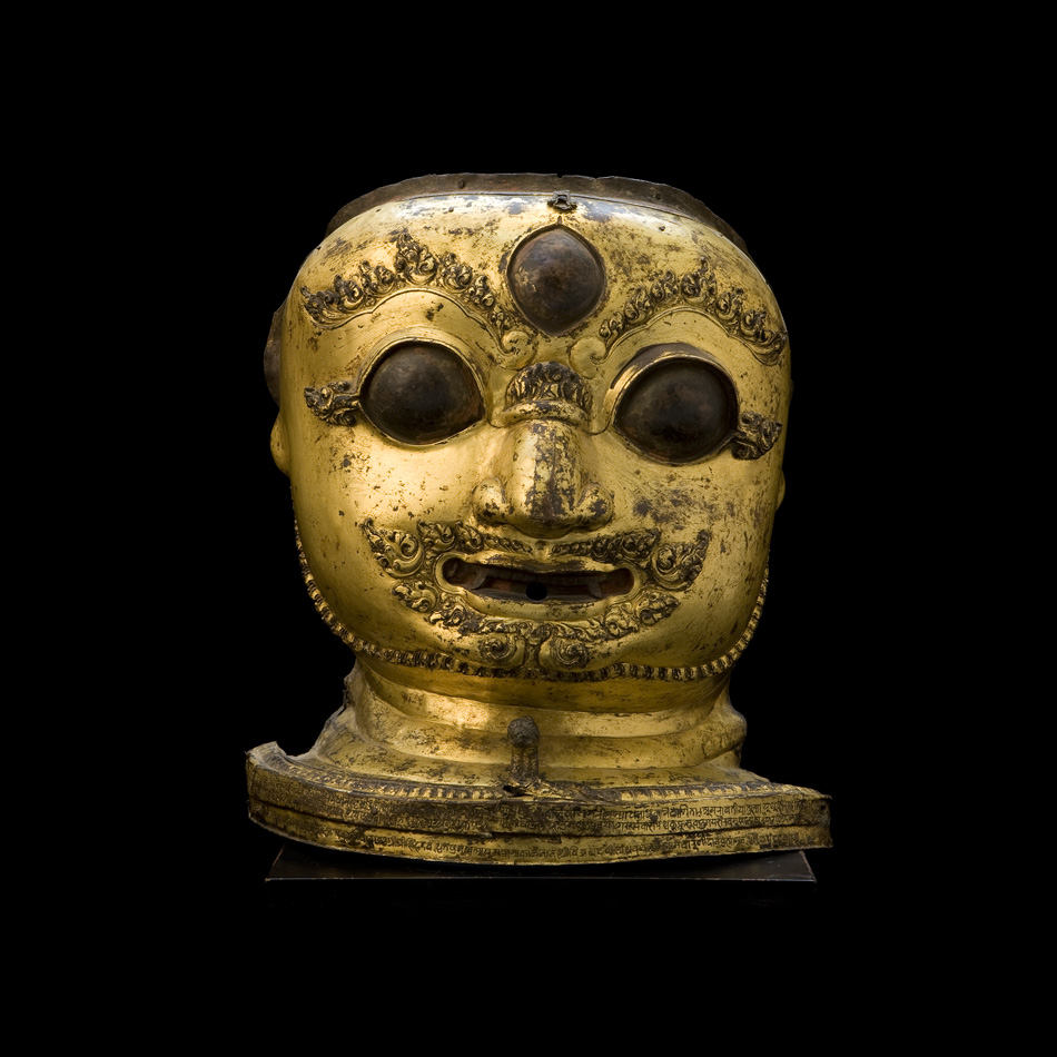 Gilt Bronze Mask of Bhairava