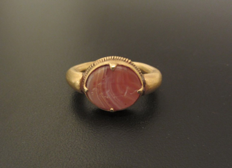 Carnelian and Gold Intaglio Ring
